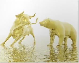 bull and bear Poster