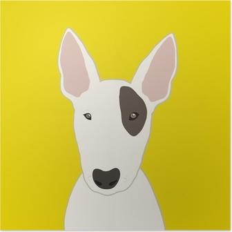 Poster Bull terrier