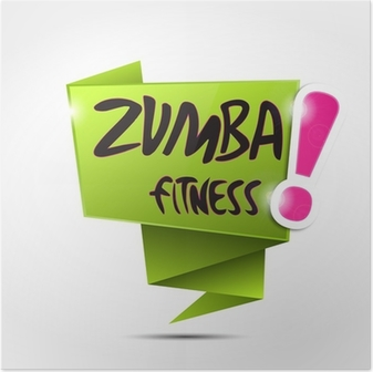 Poster Bulle origami: Zumba Fitness!