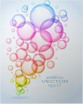 Poster Bulles de savon de fond - eps10