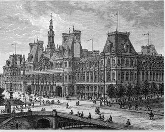 Poster Burgemeester van Parijs - Uitzicht: eind 19e eeuw