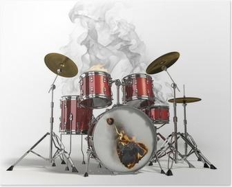 Poster Burning drums