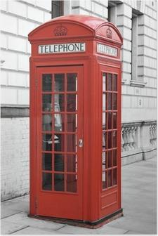 Póster Cabina de teléfono roja en Londres, Inglaterra