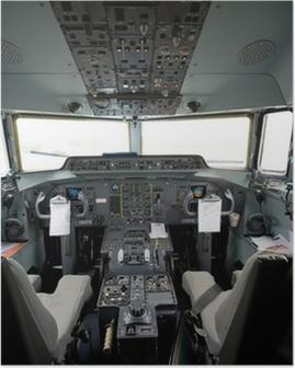 Póster Cabina de un avión