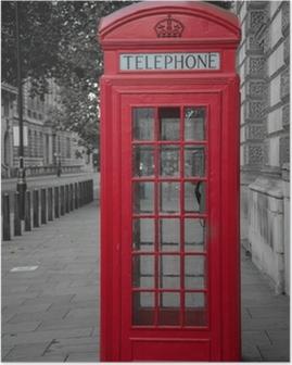 Poster Cabine téléphonique à Londres