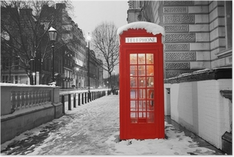 Poster Cabine telephoniques londres