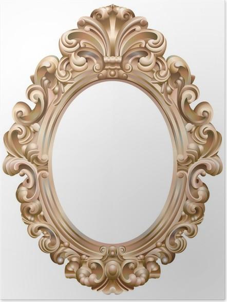 poster cadre baroque ovale dor pixers nous vivons pour changer. Black Bedroom Furniture Sets. Home Design Ideas