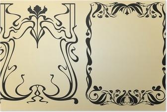 Poster Cadre et des éléments de décoration Art Nouveau