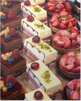 cake and pastry display Poster