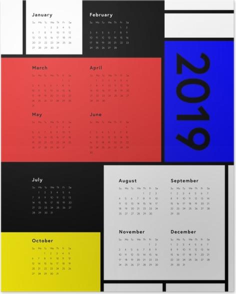 Calendar 2019 - Art Poster - Calendars 2019