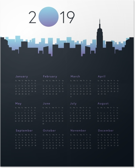 Calendar 2019 - City Poster - Calendars 2019