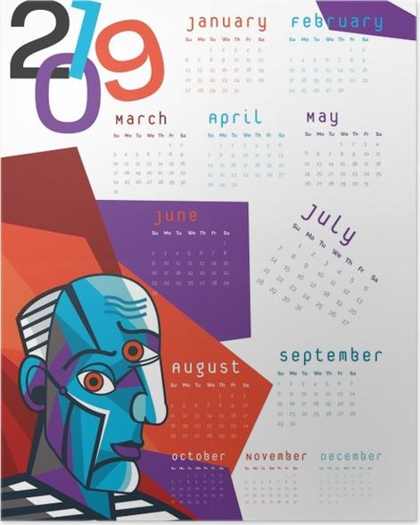 Calendar 2019 – Cubism Poster - Calendars 2019