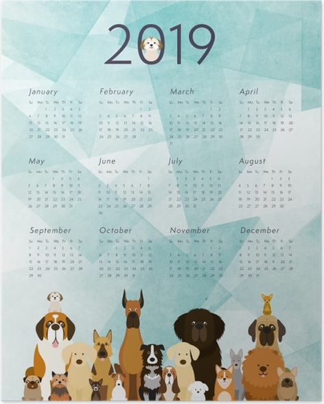Calendar 2019 – Dogs Poster - Calendars 2019