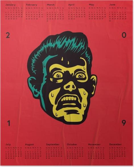 Calendar 2019 – Fear Poster - Calendars 2019