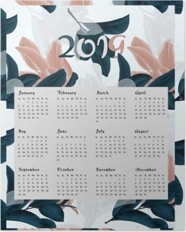 Calendar 2019 - flowers Poster