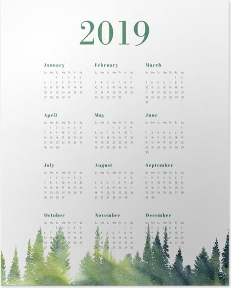 Calendar 2019 – Forest Poster - Calendars 2019