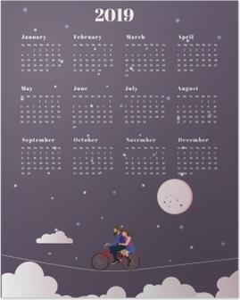 Calendar 2019 - journey Poster