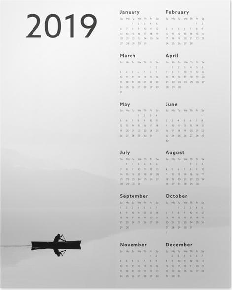 Calendar 2019 - lake Poster - Calendars 2019
