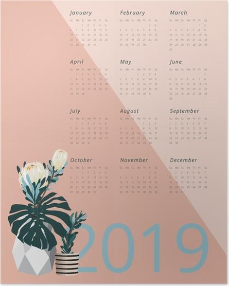 Calendar 2019 - Pantone 2019 Poster - Calendars 2019