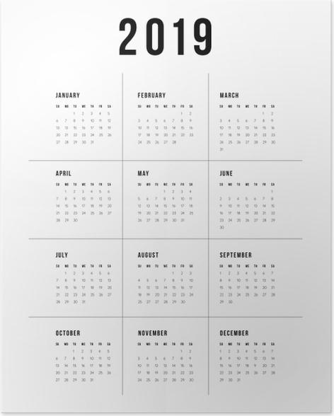 Calendar 2019 - traditional Poster - Calendars 2019