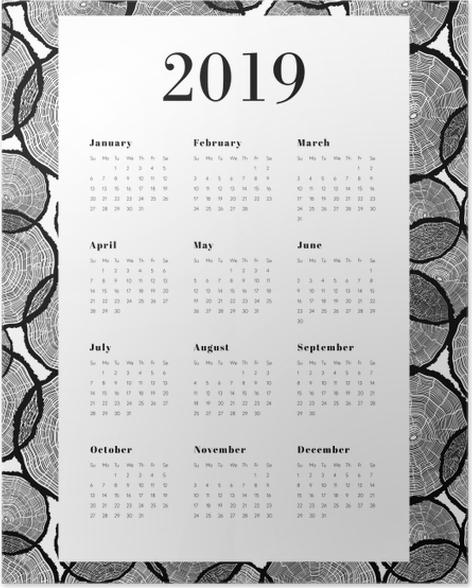 Calendar 2019 - Tree trunks Poster - Calendars 2019