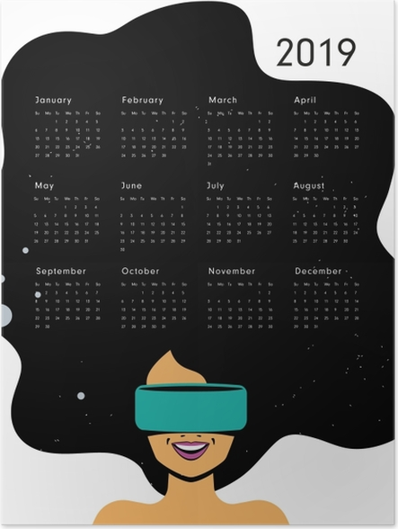 Póster Calendario 2019 - ser feliz -