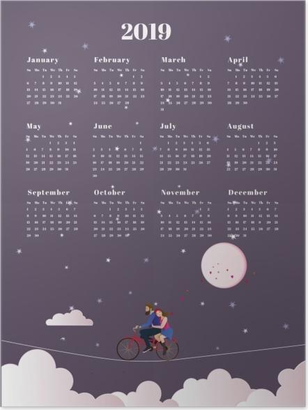 Póster Calendario 2019 - viaje -