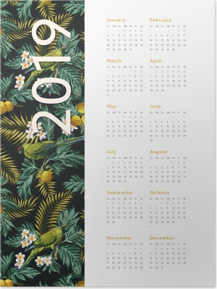 Poster Calendrier 2019 - automne -