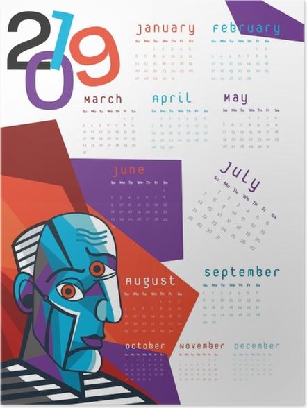 Poster Calendrier 2019 – Cubisme -