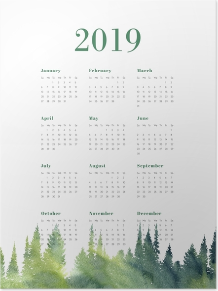 Poster Calendrier 2019 – Forêt -