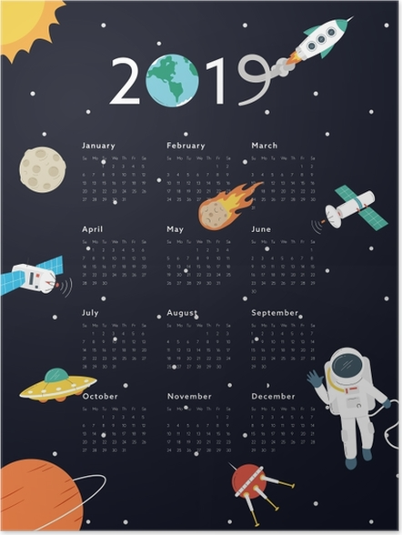 Poster Calendrier 2019 – Univers -