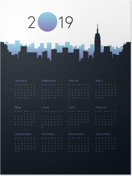 Poster Calendrier 2019 - Ville -