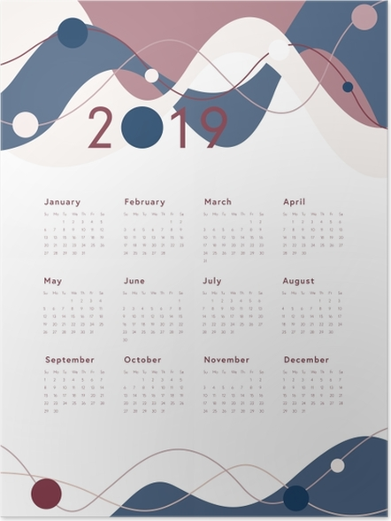 Poster Calendrier 2019 -