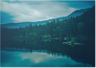 Calm Lake Scenery Poster