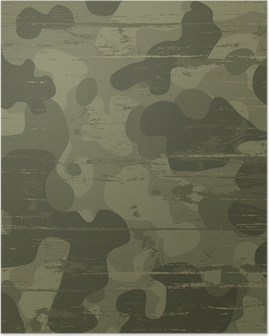 Camouflage military background. Vector illustration, EPS10 Poster