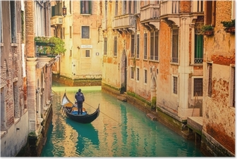 Poster Canal à Venise.
