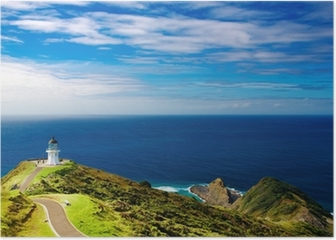 Cape Reinga Lighthouse, New Zealand Poster