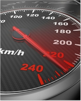 Car Speedometer Poster