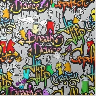 Poster Caractères Graffiti, seamless