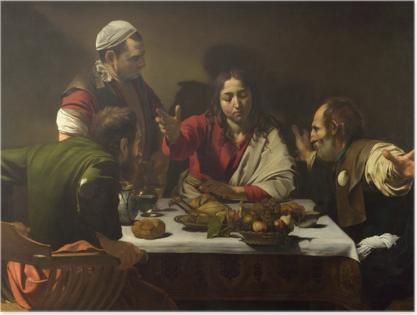 Caravaggio Supper At Emaus Poster