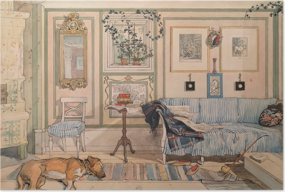 Poster Carl Larsson - Coin paresseux - Reproductions