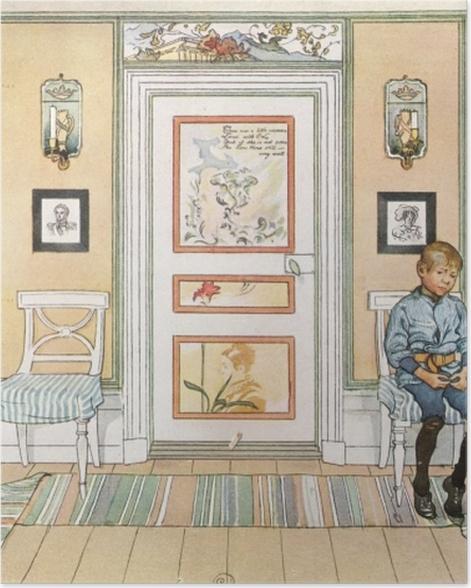 Poster Carl Larsson - Dans le coin - Reproductions