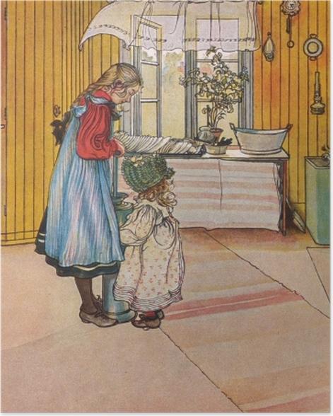 Poster Carl Larsson - La Cuisine - Reproductions