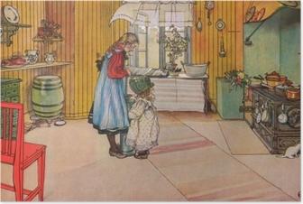 Poster Carl Larsson - La Cuisine