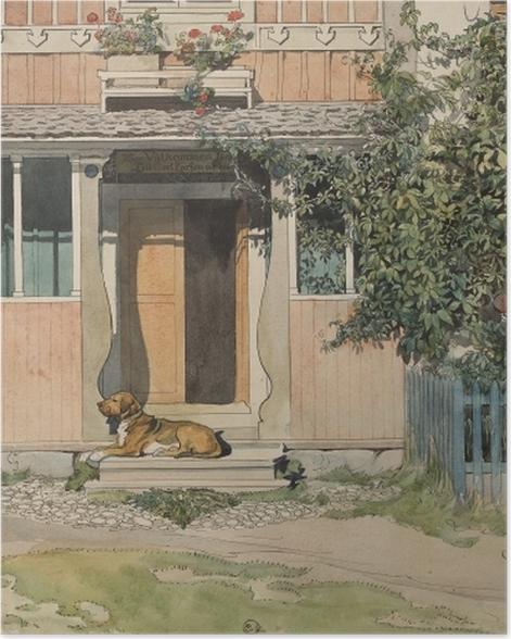 Poster Carl Larsson - La Véranda - Reproductions