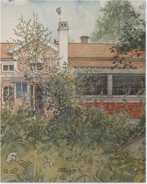 Poster Carl Larsson - Maison au soleil - Reproductions
