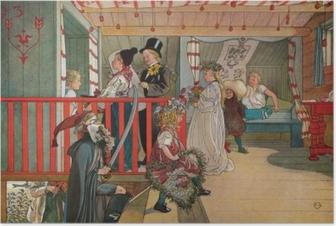 Poster Carl Larsson - Měniny v kůlně