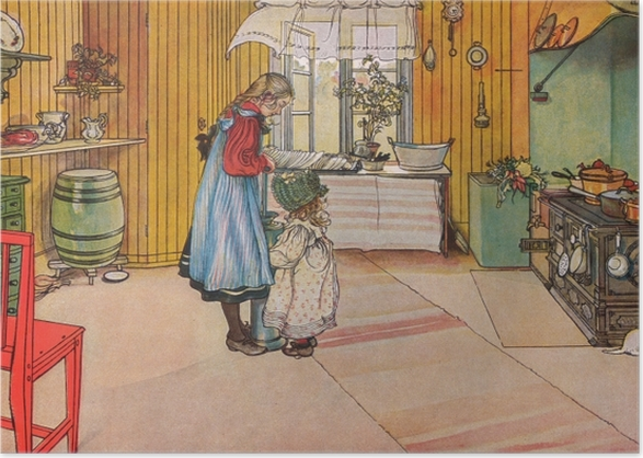 Carl Larsson - The Kitchen Poster - Reproductions