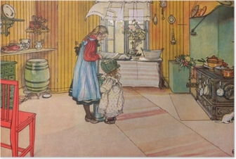 Carl Larsson - The Kitchen Poster