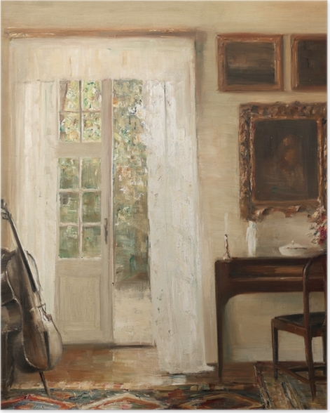 Carl Vilhelm Holsøe - Interior with a Cello Poster - Reproductions